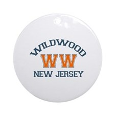 Wildwood NJ - Varsity Design Ornament (Round)