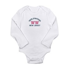 Wildwood NJ - Varsity Design Long Sleeve Infant Bo
