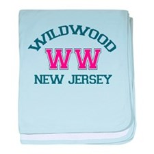 Wildwood NJ - Varsity Design baby blanket