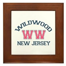Wildwood NJ - Varsity Design Framed Tile