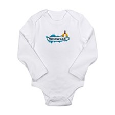 Wildwood NJ - Surf Design Long Sleeve Infant Bodys