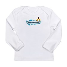 Wildwood NJ - Surf Design Long Sleeve Infant T-Shi