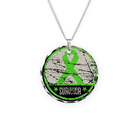 Survivor Circle Lymphoma Necklace Circle Charm