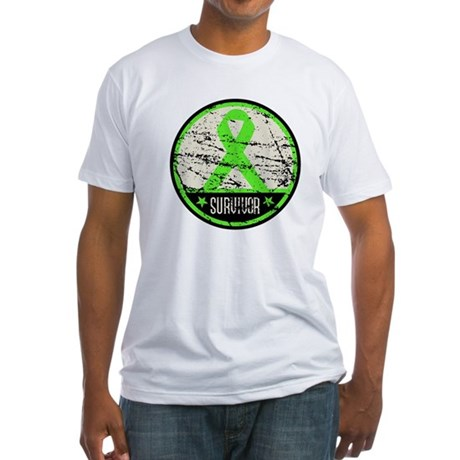 Survivor Circle Lymphoma Fitted T-Shirt