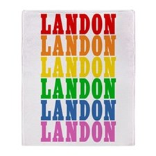 Rainbow Name Throw Blanket