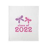 2022 Girls Graduation Throw Blanket