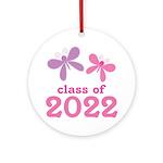 2022 Girls Graduation Ornament (Round)