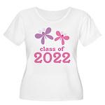 2022 Girls Graduation Women's Plus Size Scoop Neck