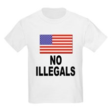 No Illegals Immigration Kids T-Shirt