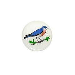 blue bird Mini Button (10 pack)