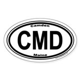 Camden Maine CMD Euro Oval Decal