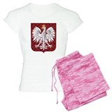 Polish Eagle Plaid Crest pajamas