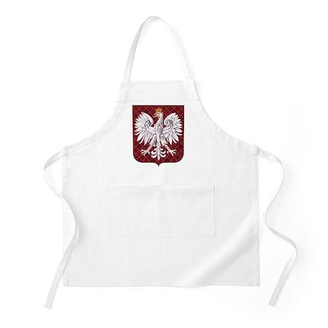 Polish Eagle Plaid Crest Apron