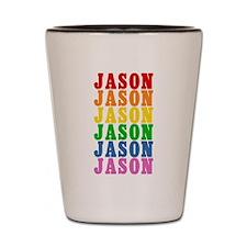 Rainbow Name Shot Glass