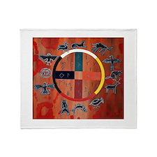Native American Art Throw Blanket