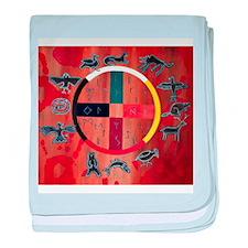 Native American Art baby blanket
