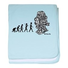 ROBOT EVOLUTION baby blanket