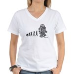 ROBOT EVOLUTION Women's V-Neck T-Shirt