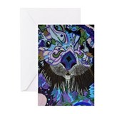 Abstract Otter Greeting Cards (Pk of 10)