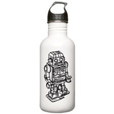 VINTAGE TOY ROBOT Sports Water Bottle