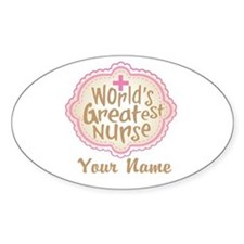 Personalized World's Greatest Nurse Decal
