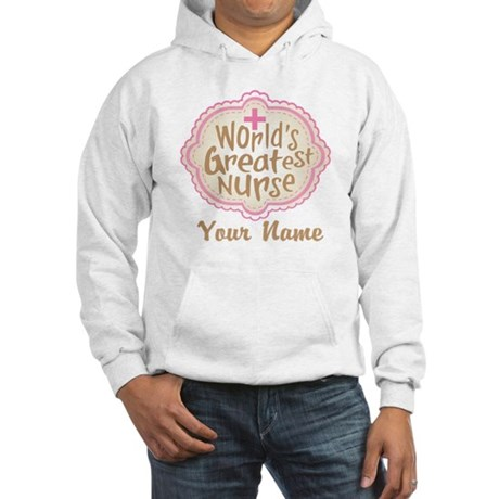 Personalized World's Greatest Nurse Hooded Sweatsh