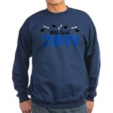 MBA Grad 2011 (Blue Caps And Diplomas) Jumper Sweater