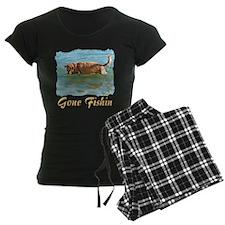Golden Retriever Gone Fishin Pajamas