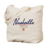 Nashville Script Tote Bag
