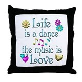 Live Dance Love Throw Pillow