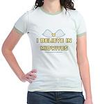 I believe in Midwives Jr. Ringer T-Shirt