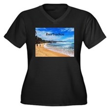 Barbados Women's Plus Size V-Neck Dark T-Shirt
