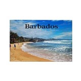 Barbados Rectangle Magnet
