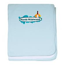 North Wildwood NJ - Surf Design baby blanket