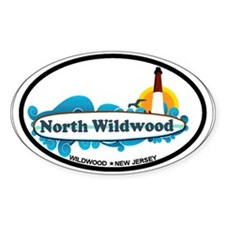 North Wildwood NJ - Surf Design Decal