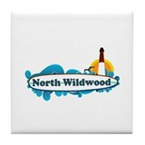 North Wildwood NJ - Surf Design Tile Coaster