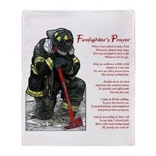 Firefighter Prayer Throw Blanket