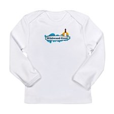 Wildwood Crest NJ - Surf Design Long Sleeve Infant