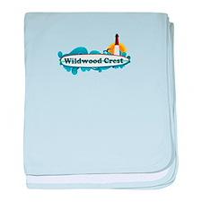 Wildwood Crest NJ - Surf Design baby blanket