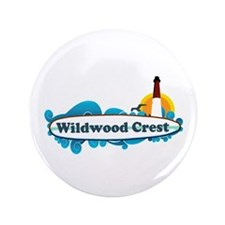"Wildwood Crest NJ - Surf Design 3.5"" Button"