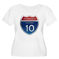 Interstate 10 - California T-Shirt