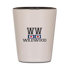 Wildwood NJ - Nautical Flags Design Shot Glass