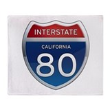 Interstate 80 - California Throw Blanket