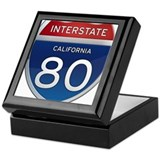 Interstate 80 - California Keepsake Box