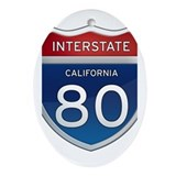 Interstate 80 - California Ornament (Oval)