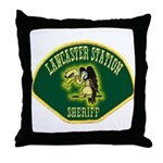 Lancaster Sheriff Station Throw Pillow