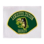 Lancaster Sheriff Station Throw Blanket