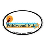 Wildwood NJ - Beach Design Decal