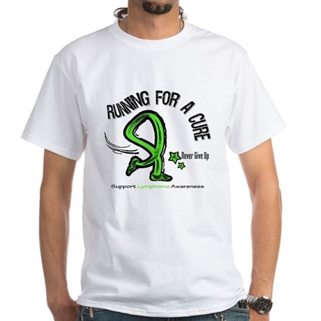 Running For Cure Lymphoma White T-Shirt