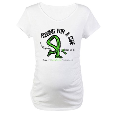 Running For Cure Lymphoma Maternity T-Shirt